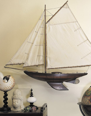 Maquette bois du Yacht Ironside Authentic models AS167.