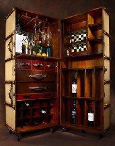 malle de cabine bar ivoire authentic models mf078. Black Bedroom Furniture Sets. Home Design Ideas